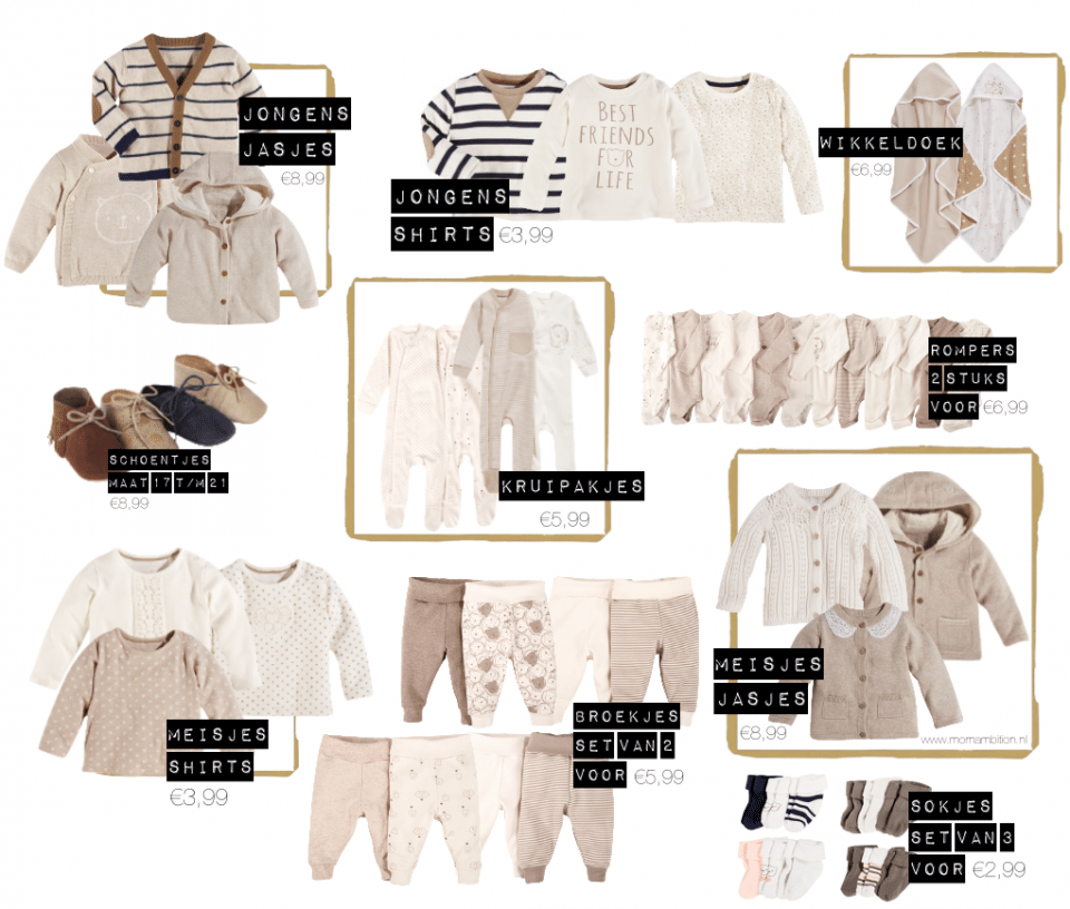 Organic babykleding & accessoires van Lidl