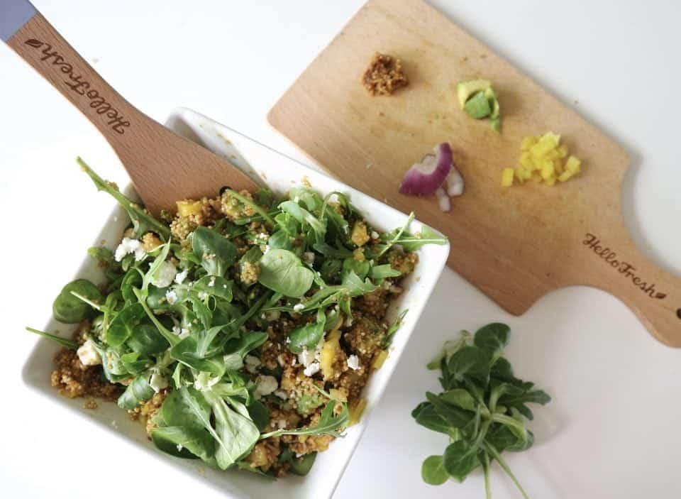 Groene Maandag Recept : Quinoasalade met gele biet en avocado