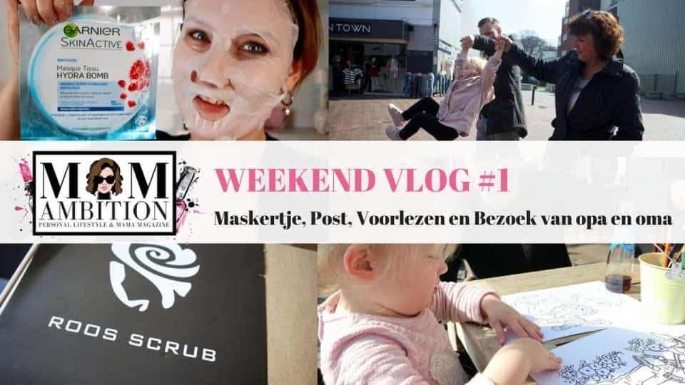 Weekend Vlog #1 | Maskertje, Post, voorlezen en bezoek van opa en oma