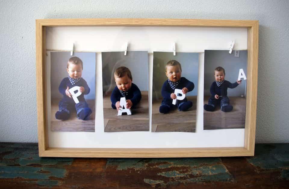 Vaderdag DIY | Een héél speciaal Fotolijstje voor papa