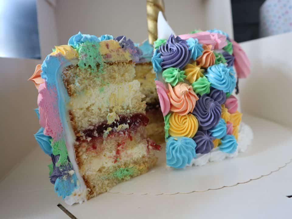 Eenhoorn taart buffetten boer buffet unicorncake