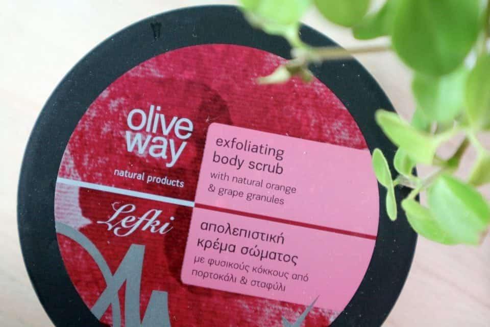 cruelity free huidverzorgingsroutine oliveway lefki exfoliating scrub beauty blog mama blog