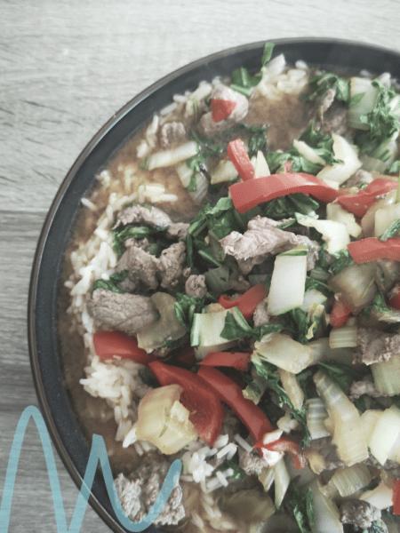 RECEPT | Wokschotel met biefstukreepjes en paksoi