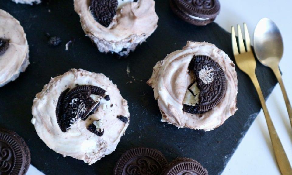 Recept | No Bake Mini Oreo Cheesecake met (Milka) chocolade