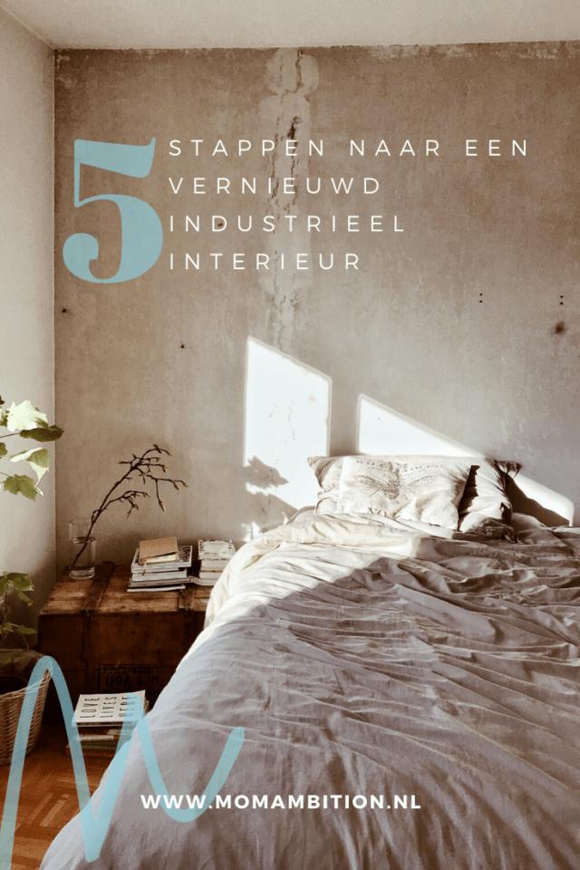 momambition woonblog In 5 stappen naar een vernieuwend, industrieel interieur slaapkamer pinterest